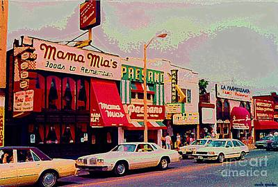 Painting - Mamma Mia's Italian Eatery Foods To Remember Niagara Falls Landmark Diner Ontario Paintings Cspandau by Carole Spandau