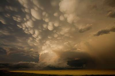 Mammatus Clouds Over Fields Art Print by Roger Hill/science Photo Library