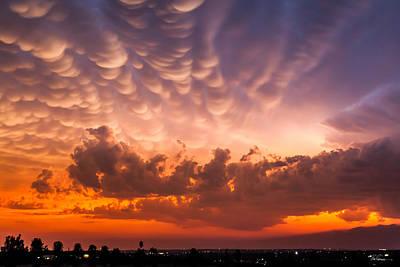 Mammatus Photograph - Mammatus Stormclouds Ahead by Bob Rapfogel