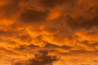 Mammatus Clouds Art Print