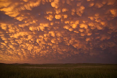 Photograph - Mammatus Over Nebraska by Brandon  Ivey