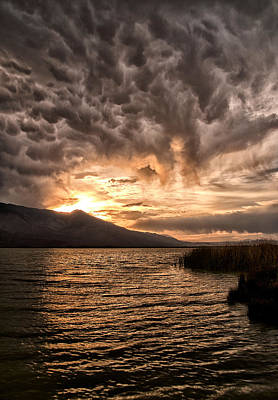 Sean Rights Managed Images - Mammatus Sunset Royalty-Free Image by Cat Connor