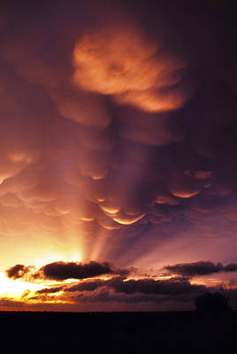 Photograph - Mammatus Sunset Over Colorado by Jason Politte