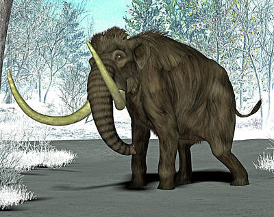 Mammoth Art Print by Friedrich Saurer