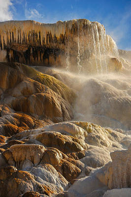 Photograph - Mammoth Hot Springs by Harry Spitz