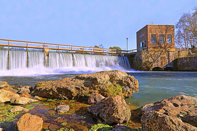 Photograph - Mammoth Spring Dam And Hydroelectric Plant - Arkansas by Jason Politte