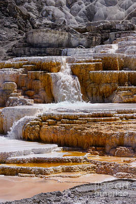 Photograph - Mammoth Springs Falls by Jennifer White
