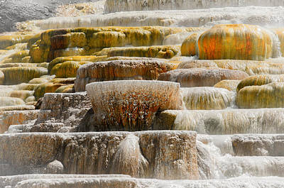 Photograph - Mammoth Springs by Spencer Hughes