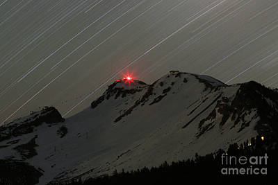 Snowboarding Photograph - Mammoth Star Trails by Kevin Westenbarger