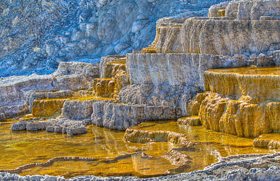 Mammouth Hot Spring Art Print by Jeff Donald