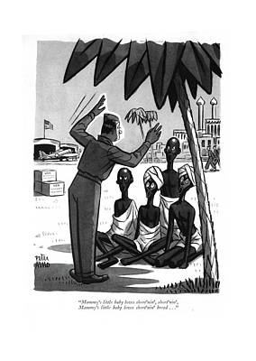 U.s Army Drawing - Mammy's Little Baby Loves Short'nin' by Peter Arno