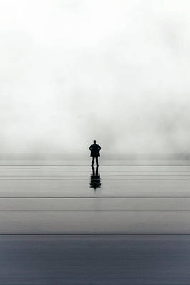Raining Photograph - Man Alone by Joana Kruse