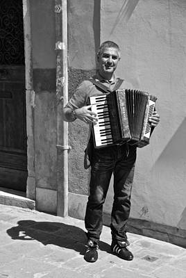 Photograph - Man And His Accordion  by Eric Tressler