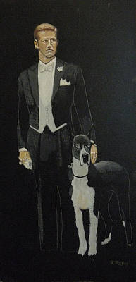 Painting - Man And His Dog by Richard Le Page