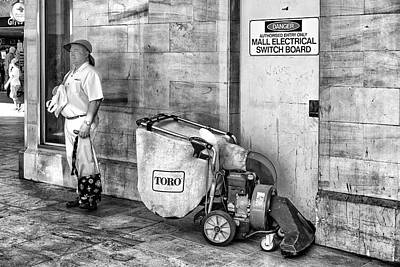Husband Waiting Photograph - Man And Machine by Paul Donohoe