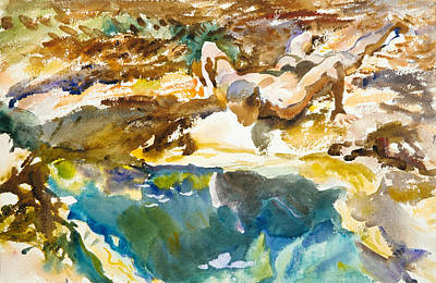 Painting - Man And Pool. Florida by John Singer Sargent