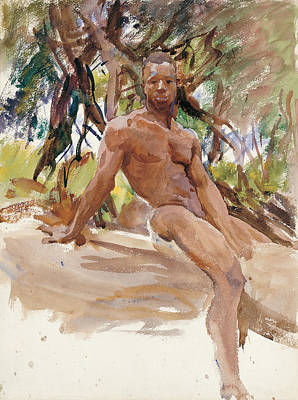 Painting - Man And Trees. Florida by John Singer Sargent
