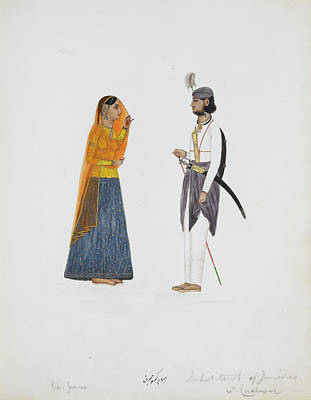 Man And Woman From Jammu Art Print by British Library