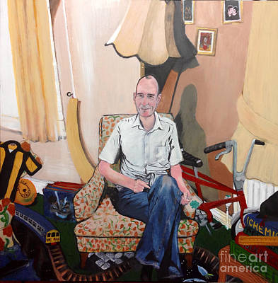 Painting - Man At 50... by Michelle Deyna-Hayward