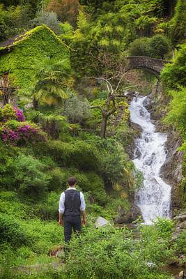 Spring House Photograph - Man At A Waterfall by Joana Kruse