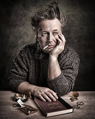 Photograph - Man At The Table - Lonely Hearts Club by Gary Heller