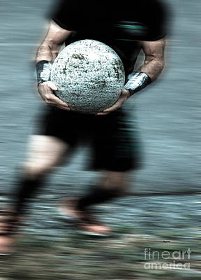Athletic Digital Art - Man Ball  by Steven Digman
