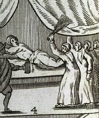 Man Being Flogged, 17th Century Artwork Print by British Library