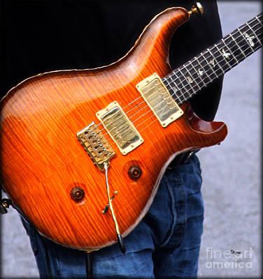 Guitar Player Digital Art - Man Belly Blues by Steven Digman