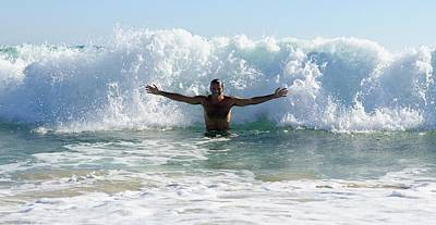 Body Surfing Photograph - Man Body Surfing by Ben Welsh