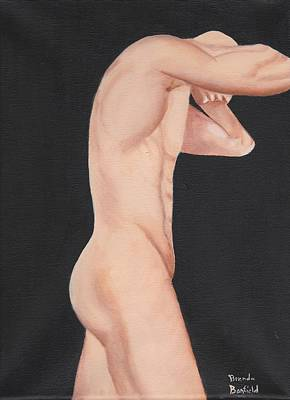 Man Art Print by Brenda Bonfield