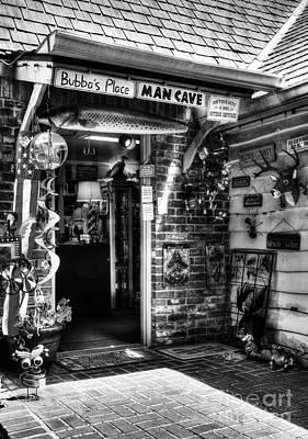 Photograph - Man Cave Bw by Mel Steinhauer