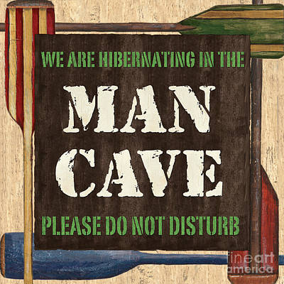 Pub Painting - Man Cave Do Not Disturb by Debbie DeWitt
