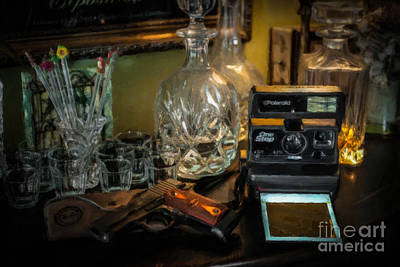 Vintage Camera Mixed Media - Man Cave Old School by Dale Powell