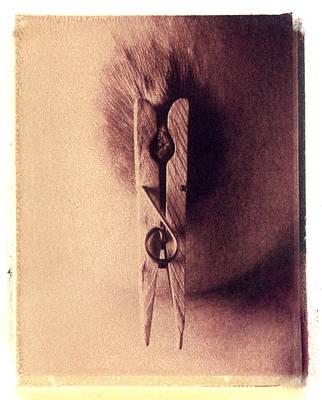 Polaroid Nude Photograph - Man Creates A World Starving by Jeff Leland
