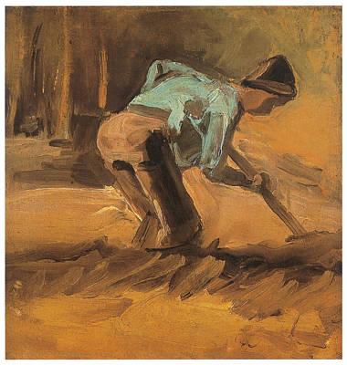 Man Digging Art Print by Vincent van Gogh