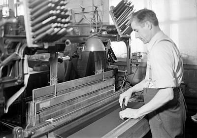 Man Doubling And Twisting Silk, 1936 Art Print