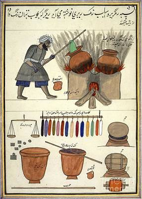 Raj Photograph - Man Dyeing Cloth In India, 1850s by British Library