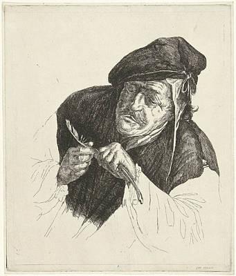 Man Entertains His Pen, Jabes Heenck Art Print by Artokoloro