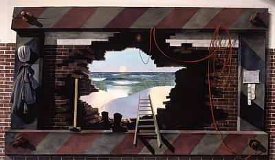 Man Escapes Art Print by Blue Sky