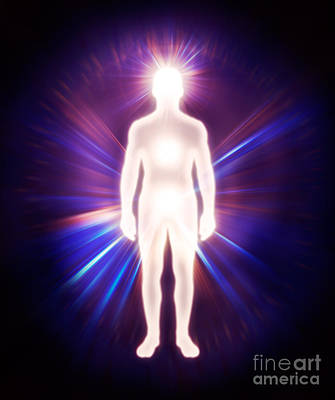 Man Ethereal Body Energy Astral Body Art Print