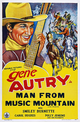 Autry Photograph - Man From Music Mountain, Us Poster by Everett