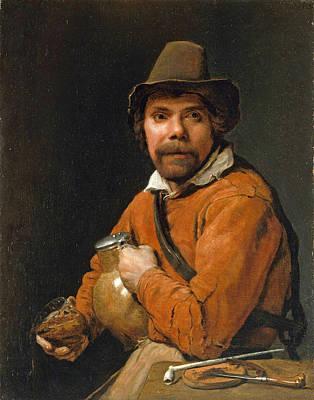 Man Holding A Jug Art Print by Michiel Sweerts