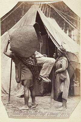 Bangladesh Photograph - Man In A Basket Chair by British Library