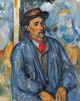Man In A Blue Smock Art Print
