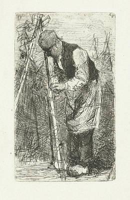 Man In A Vegetable Garden, Bernardus Johannes Blommers Art Print by Bernardus Johannes Blommers