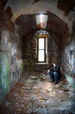 Photograph - Man In Abandoned Building by Jill Battaglia