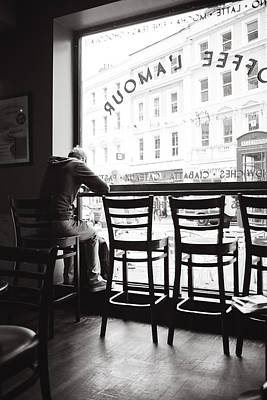 Phone Booth Photograph - Alone In Cafe Love by Jimmy Karlsson
