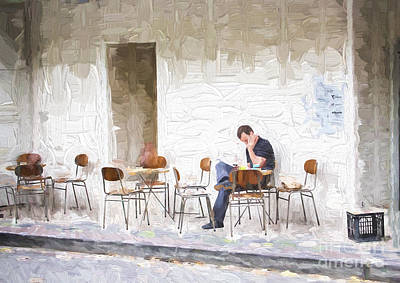 Impressionism Photos - Man in cafe by Sheila Smart Fine Art Photography
