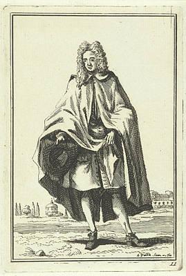 Adolf Drawing - Man In Cape, Adolf Van Der Laan by Quint Lox