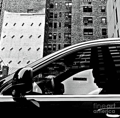 Photograph - Man In Car - Scenes From A Big City by Miriam Danar